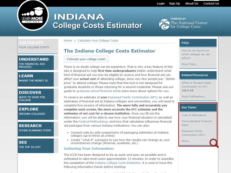 Estimating Your College Costs - YouTube