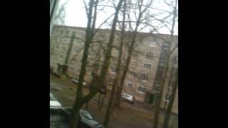 Мой вид из окна и огромный телевизор