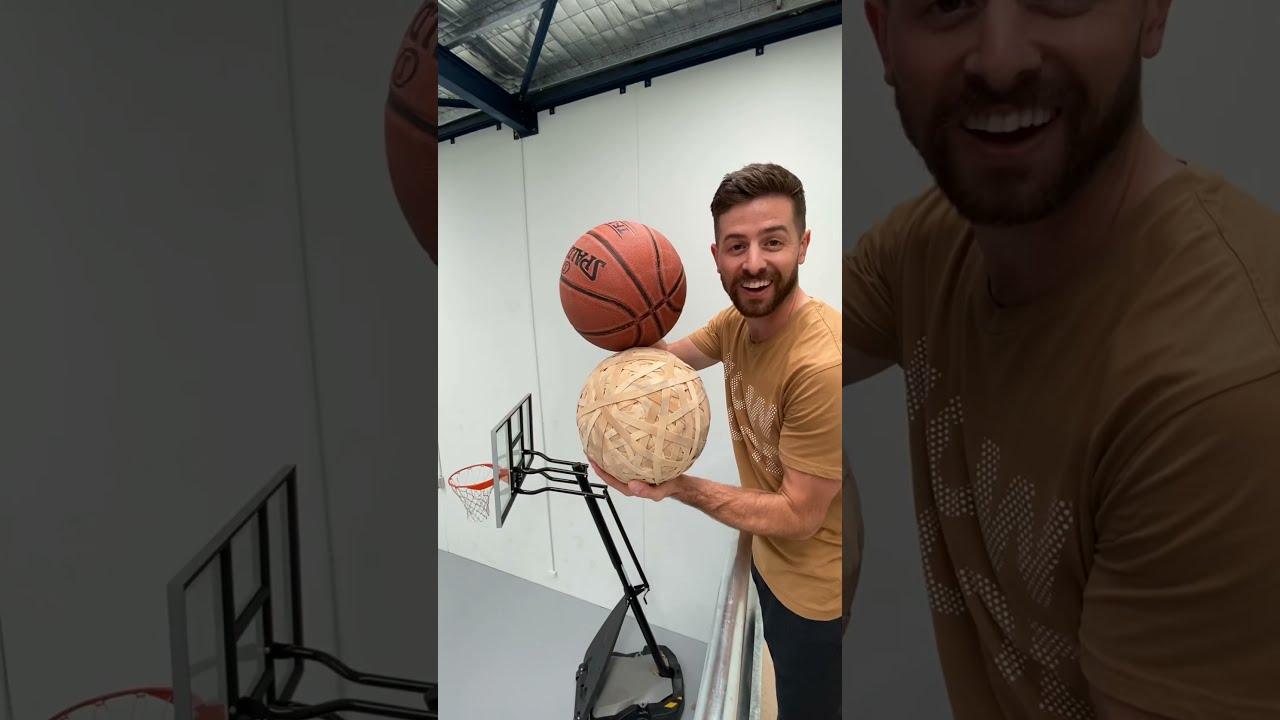 Impossible Rubber Band Ball Basketball Shot