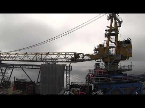 Ekofisk Zulu Pedestal Crane Sidding