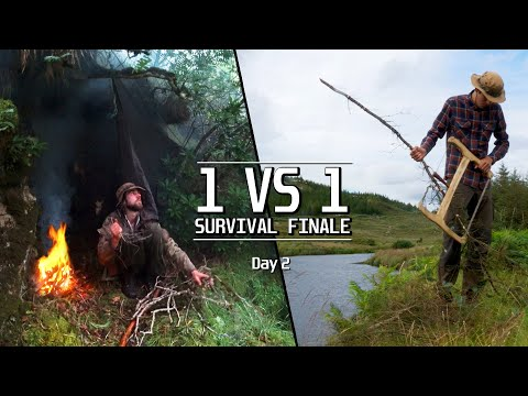 1VS1 SURVIVAL to Extraction Point ~ Day 2: fishing, midges invasion, rugged terrain, etc