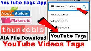 Webview youtube fullscreen fixed aia file thunkable