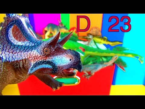 DINOSAUR Box 23 TOY COLLECTION - LETTER D Jurassic World Dino Kids Toy Review SuperFunReviews