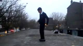 Akram breakdancing on the Roof