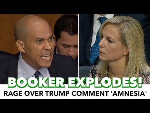 Cory Booker Explodes On Homeland Secretary