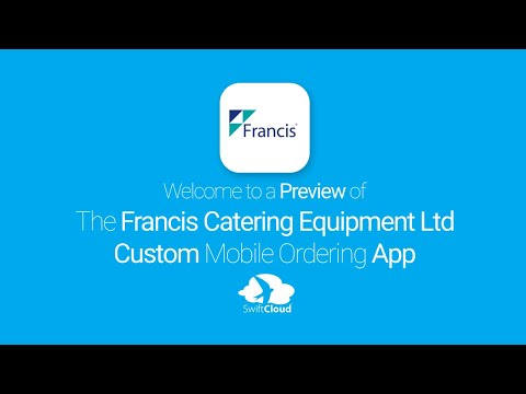 Francis Catering Equipment Ltd - Mobile App Preview - FRA692W