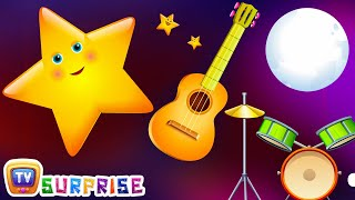 Repeat youtube video Surprise Eggs Nursery Rhymes Toys | Twinkle Twinkle Little Star | Learn Colours | ChuChu TV