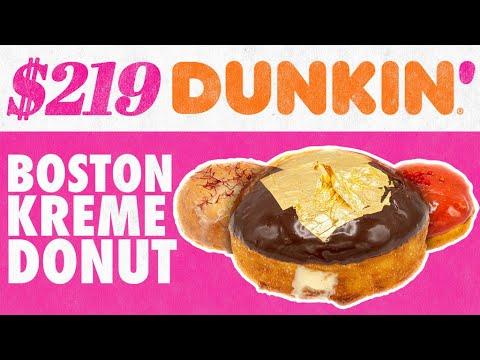 $219 Dunkin' Boston Kreme Donut   Fancy Fast Food   Mythical Kitchen