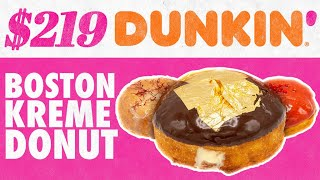 $219 Dunkin' Boston Kreme Donut | Fancy Fast Food | Mythical Kitchen