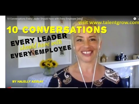 10 Conversations Every Leader Should Have with Every Employee [vlog]