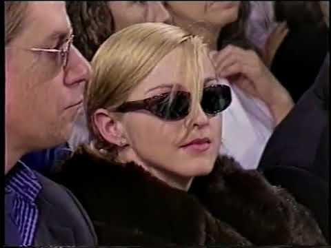 Madonna attends the Helmut Lang fashion show (1995)