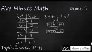 4th Grade Math Converting Units