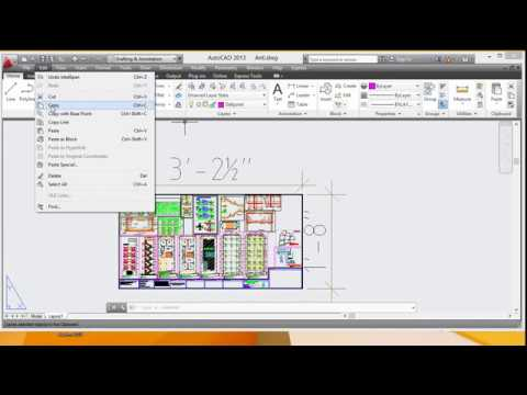 Autocad:How to copy layout one drawing to another drawing