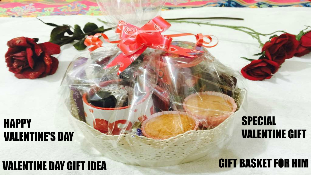 How To Make Gift Basket For Birthday 4 Him Valentine S Day Gift Idea