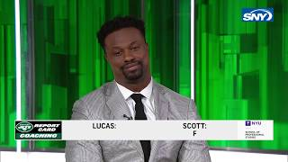 Bart Scott and Ray Lucas grade the Jets: F, F, F, F, F, F, F, F.  That's it.