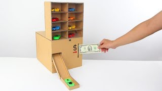 How to Make Amazing Car Vending Machine from Cardboard!