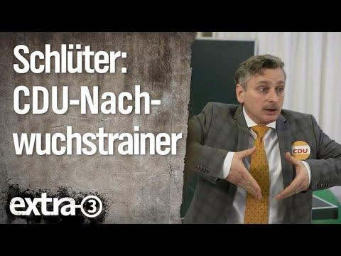 Johannes Schlüter: Nachwuchstrainer der CDU | extra 3 | NDR