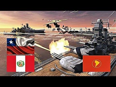 Guerra Entre Chile Peru Y Sudamerica Simulacion Youtube
