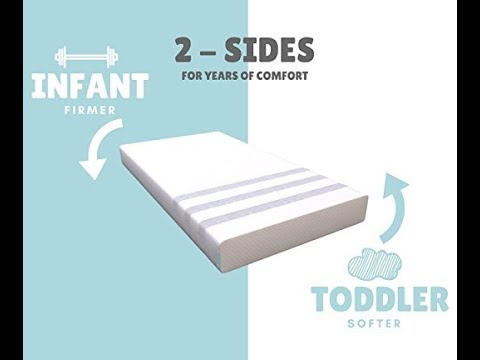 Stitch & Cradle 2in1 Natural Foam Crib Mattress & Toddler Bed - Non-Toxic, Breathable, Healthy
