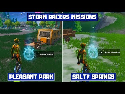 Complete Time Trial East of Pleasant Park or South West of Salty Springs! - Storm Racers Season X