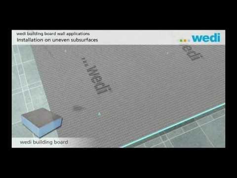 Wedi | EN   Training: Building Board Uneven Surface