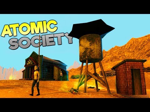 BUILDING A CIVILIZATION AFTER A NUCLEAR APOCALYPSE! WE MAKE THE LAW - Atomic Society Update Gameplay
