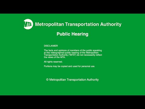 MTA Public Hearing - HQ - Proposed Second Avenue Subway Phase 1 Service Plan - 4/7/2016
