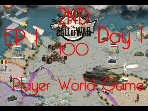 Call of War 1942 2ND 100 Player Fan Game, Day 1 EP1