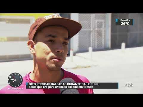 Oito pessoas são baleadas em baile funk na Grande São Paulo | SBT Brasil (13/11/17)