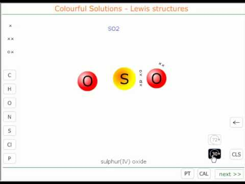 The Lewis structure of sulphur(IV) oxide