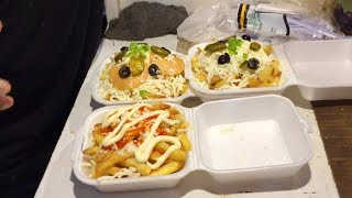 The Cheesy Pizza Fries at Street Food of Karachi Pakistan