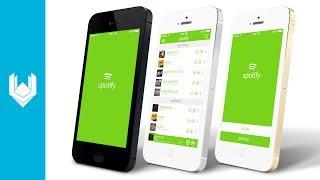 Harley P - Spotify App UI Redesign (Photoshop CC)