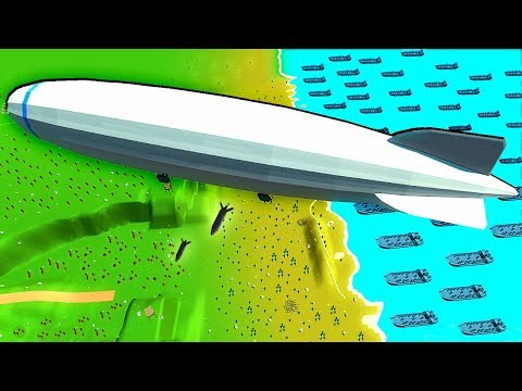 What If Zeppelin Bombers Were At D-Day? - Ancient Warfare 3 WW2 Battles