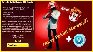 🔴 fortnite NEW SKIN KFC? New starter Pack?! Gierki with viewers contest for Sub