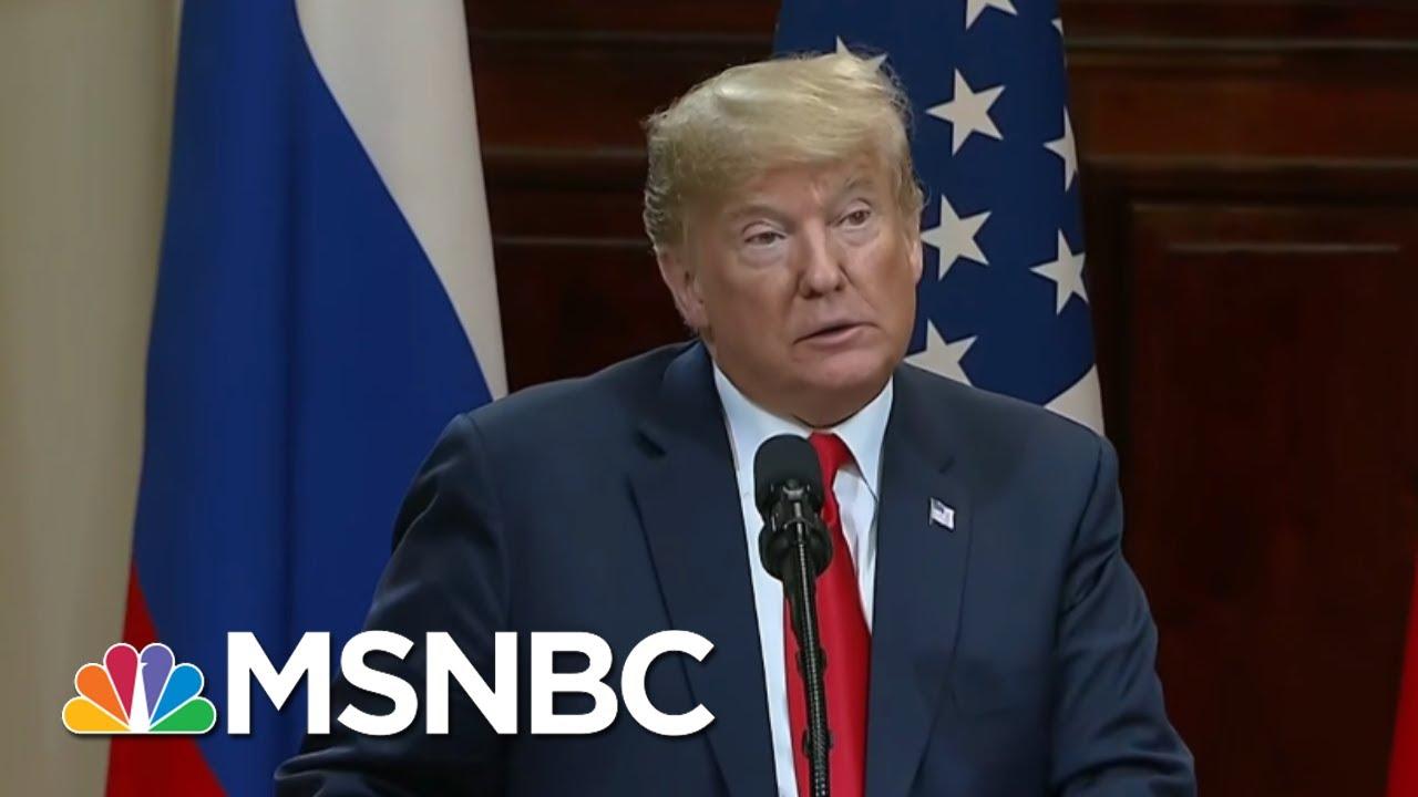 Vladimir Putin Owns President Donald Trump And Both Know It Morning Joe Msnbc