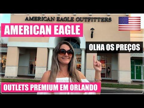 AMERICAN EAGLE ORLANDO PREMIUM OUTLETS Com PREÇOS Nos EUA