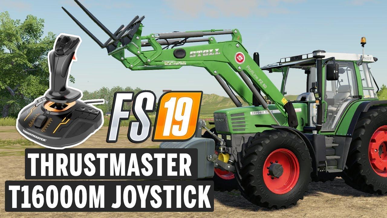 Thrustmaster T16000M Joystick ile Farming Simulator 19 oynuyoruz