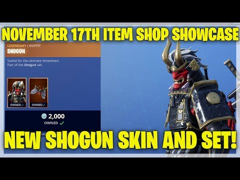 Fortnite Item Shop NEW SHOGUN SKIN AND SET! [November 17th, 2018] (Fortnite Battle Royale)