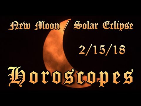 New Moon Eclipse in Aquarius 2/15/18 - LIVE Horoscopes for Every Sign!