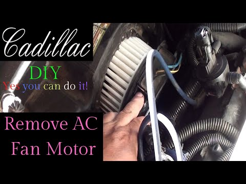How to replace your AC fan Blower motor on 1997 Cadillac Deville what your mechanic wont tell you
