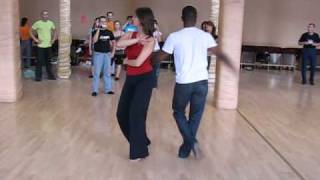 Mark-Anthony and Dace dance salsa