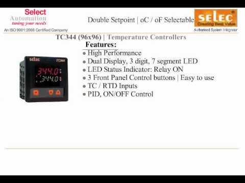 SELEC TEMPERATURE CONTROLLER TC344 TEMPERATURE CONTROLLER ... on