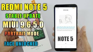 Redmi Note 5 MIUI 9.6.5.0 Stable Update Full Changeloge__Redmi Note 5 Android Oreo 8.1 Portrait mode