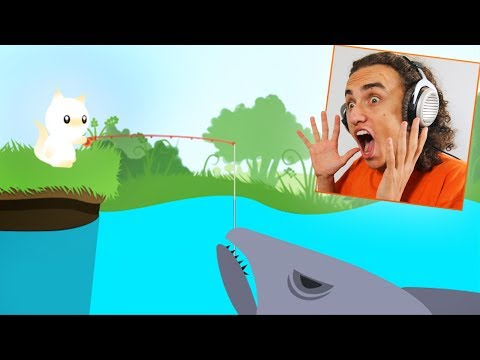 CATCHING THE BIGGEST SHARK IN THE GAME! (Cat Goes Fishing)