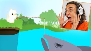 CATCHING THE BIGGEST SHARK IN THE GAME! (Cat Goes Fishing) thumbnail