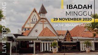 Ibadah Minggu Live Streaming 29 November 2020 GKJW Darmo Bahasa Indonesia #gkjwdarmo