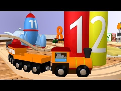 Wooden Number Train: Learn Numbers 11-20 for Children