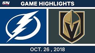 NHL Highlights | Lightning vs. Golden Knights - Oct. 26, 2018