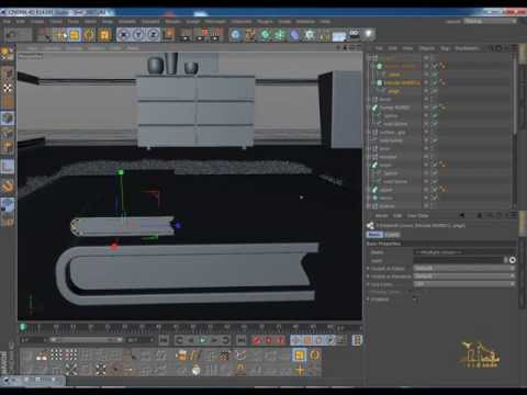08-Design Curtain and Book in C4D