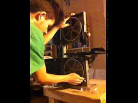 How to install a bandsaw blade for a ryobi youtube how to install a bandsaw blade for a ryobi keyboard keysfo Gallery